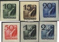 Slowakije 115-120 postfris 1943 Krant namen
