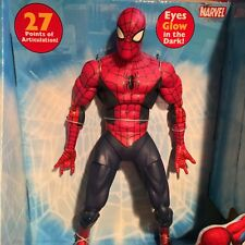 "ToyBiz 12"" POSEABLE THE AMAZING SPIDER-MAN FIGURE DARK SUIT 27 POA MARVEL ICONS"