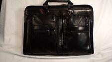Winn Int. 2507 Black Nappa Leather Men's Top Zip Briefcase