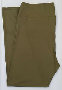 TC LuLaRoe Tall Curvy Leggings Beautiful Solid Army / Light Olive Green NWT 24
