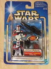 Star Wars Ep II AOTC Clone Trooper w/ Blaster Rifle & Firing Tripod Cannon NOSC