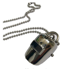 Stainless Steel Welder Helmet pendant with chain