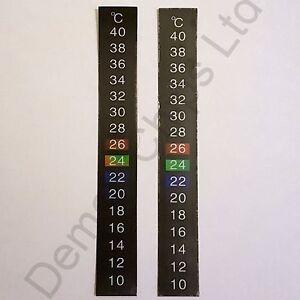 2 x 10-40C Centigrade LCD Thermomètre Adhésif Autocollant Bière Du vin Aquarium