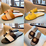 TB Women's Slippers Black Yellow Leather Flat Classic Sandals Many Sizes Hot