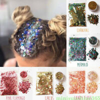 Mixed Sequin Powder Nail Face Eye Shadow Hair Glitter Decoration Halloween Party