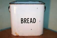 Vintage White Enamel Bread Bin, without lid.