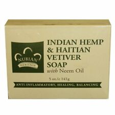 Nubian Heritage Indian Hemp & Haitian Vetiver Soap With Neem Oil 5 Oz (141 G)