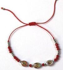 12 pcs Virgin Mary Red Cord 3 Charm Medalla Bracelet kids