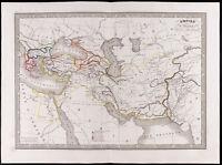 1841 - Carta Antica Empire Alexander Il Grande / monin / Alexander The Great