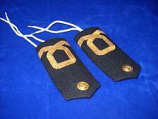 Vintage Pair Epaulettes Shoulder Boards Insignia Assistant Ensign Greek Navy #1
