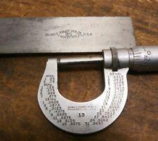 Vintage Brown Amp Sharpe Lot No13 Micrometer Caliper 0 1 Amp No 540 Square