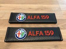 2X Seat Belt Pads Carbon Gifts Alfa Romeo 159 Sport Wagon JTS Lusso TBI Turbo TD