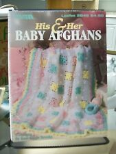 HIS & HER BABY AFGHANS CROCHET PATTERNS LEISURE ARTS 2846 SONSHINE BABY BOY +