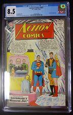 Action Comics #307 DC Comic CGC 8.5 Saturn Girl Appearance Supergirl Wedding