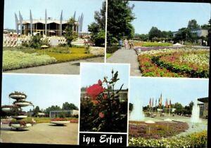 Carte Postale Ak Pk Erfurt Thüringen Langues Gartenausstellung Multi-Images 1986