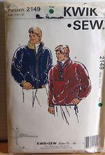 KWIK*SEW SEWING PATTERN NO.2149 MENS WINDCHEATERS SIZE S-XL