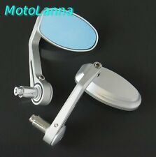 Billet CNC Aly Bar End Mirrors Yamaha SR500 XS650 Ducati CB750 Cafe Racer Silver