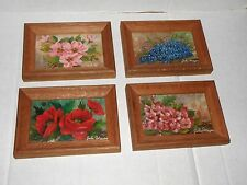 VINTAGE FRAMED FLORAL OIL PAINTINGS SIGNED BY THE ARTIST JOHN MEYERS