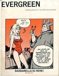 Evergreen Review Magazine   #37   FINE VERY FINE   1965  1st Barbarella  See pho