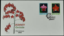 Jersey 1984 Orchids, Flowers FDC First Day Cover #C55286