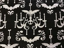 MM58 Goth Gothic Chandelier Bat Candles Spooky Steampunk Cotton Quilting Fabric