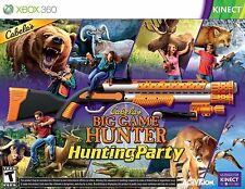 CABELAS Big Game Hunter Hunting Party XBOX 360 KINECT NEW! W/TOP SHOT SPORT GUN