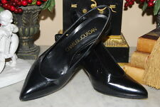 CHARLES JOURDAN BLACK LEATHER HIGH HEEL SLING BACK WOMEN'S PUMP SHOES SIZE 6.5 B