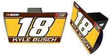 NASCAR #18 KYLE BUSCH Metal Trailer Hitch Cover-NASCAR Hitch Cover