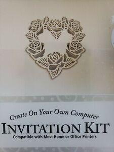 3 GARTNER 40 Invitation Kit Print Your Own WEDDING/SHOWER Laser Cut Ivory Heart