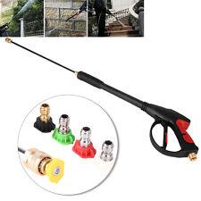 4000PSI Power High Pressure Water Washer Spray Gun Lance Hose Nozzle + 5x Tips