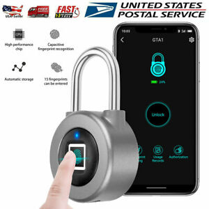 Fingerprint Padlock Waterproof Smart Keyless Bluetooth Thumbprint Lock Locker
