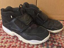 Nike Air Diamond Turf Black Baseball Shoes Deon Sanders NWT 309434-014 Sz 9