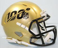 NFL 100th Season Gold Riddell Speed Mini Helmet