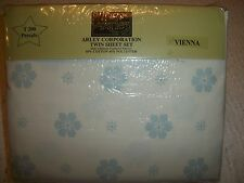 3 PIECE TWIN  SHEET SET PERCALE T200 FLORAL DESIGN BY ARLEY NEW ORIGINAL PACKAGE