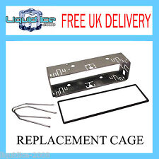 UNIVERSAL REPLACEMENT RADIO CAGE SINGLE DIN WITH  PC5-83 KEYS TRIM FITTING KIT