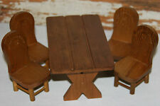 Teddy Bear Story Wooden Bear or Doll Furniture Table Chair Set 5 Pieces