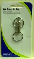 KEY CHAIN push button easy release double slide ring Remove keys with ease auto