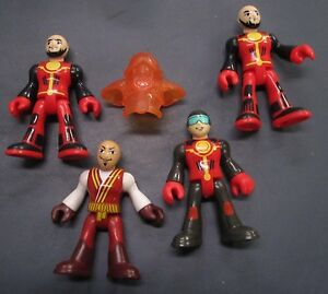 LOT of 4 Plastic Action Figures and 1 x Piece of Armor 3 inches tall
