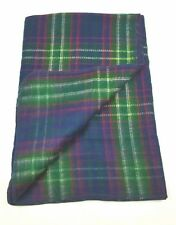 Ralph Lauren Blanket Plaid 50 x 68 in 100% Blue Green Red Yellow Throw Blanket