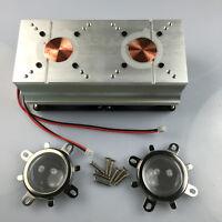 60-80°44mm Lens+Reflector Bracket+40W-200WW LED Aluminium Heat Sink Cooling Fan