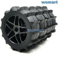 4Stk 1/8 RC Off Road Buggy Paddles Reifen Snow Sand Tires & 1:8 Felgen Hex 17mm