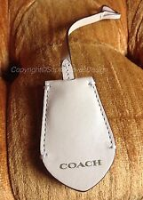Coach Peyton Khaki Tan Leather Hanging Fob Charm Gold Key Ring Replacement Tag