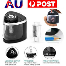 Electric Pencil Sharpener Dual Holes Automatic Operated School Office Stationery