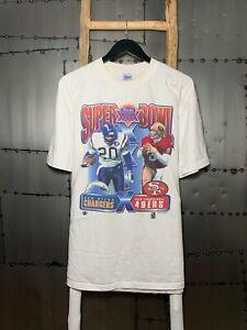 1995 NFL SUPER BOWL 29 SAN DIEGO CHARGERS VS SAN FRANCISCO 49ERS T-SHIRT TK4322