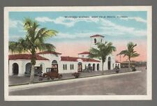 [49729] OLD POSTCARD SEABOARD STATION in WEST PALM BEACH, FLORIDA