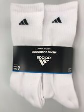 Men's ADIDAS White ATHLETIC Full Cushioned Crew Socks - 6 Pack - $36 MSRP