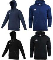 Adidas Mens Fleece Hoodie Sports Winter Training Pullover Hoody Black Navy