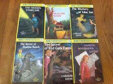6 hardcover Nancy Drew children's chapter books A.R. 2 3 4 5 6 8 series lot GUC