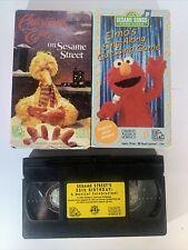 Sesame Street VHS Lot Christmas Eve on Sesame Street Elmos Sing Along And 25th