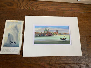 Original Watercolour Painting Of Venice By Alfredo Sacco 2004 Unframed